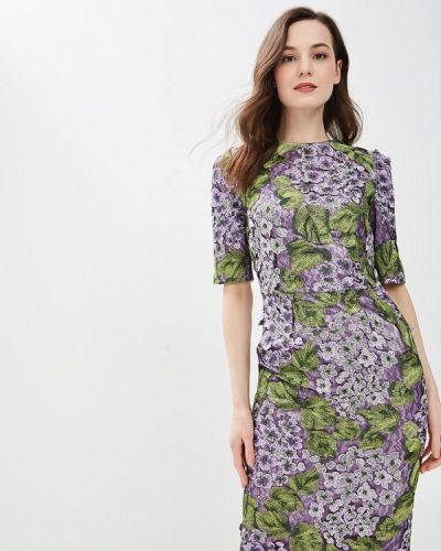 Повседневное платье весеннее фиолетовый Madam T