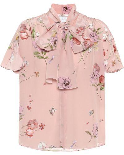 Шелковая розовая блузка Giambattista Valli
