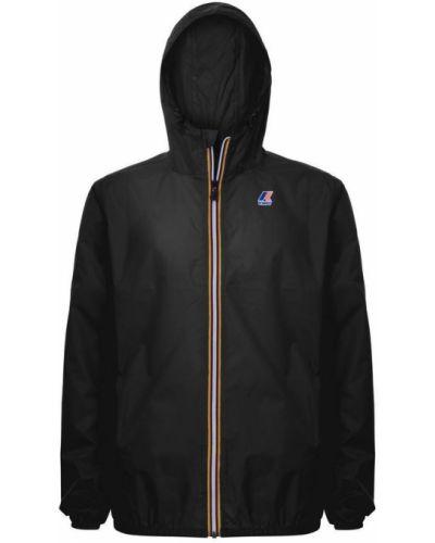 Czarna kurtka z kapturem K-way