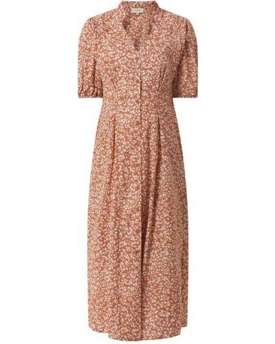 Różowa sukienka midi rozkloszowana bawełniana Levete Room