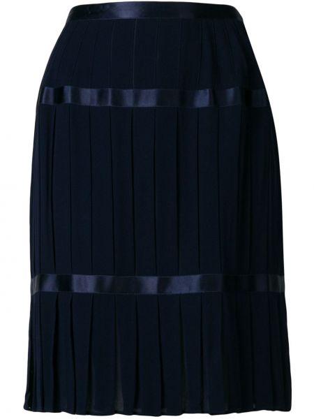 Плиссированная юбка миди винтажная Yves Saint Laurent Pre-owned