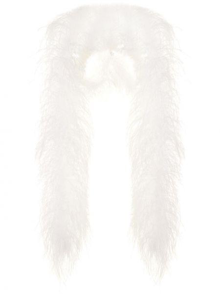 Белая шаль с драпировкой с декоративной отделкой 16arlington