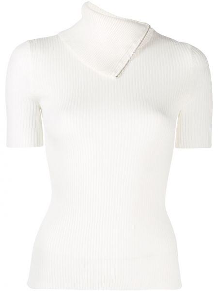 Bawełna biały z rękawami prosto koszula z krótkim rękawem Alexander Wang