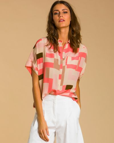 Розовая блузка Barba Napoli