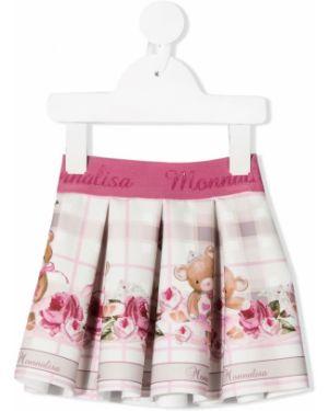 Юбка белая розовый Monnalisa