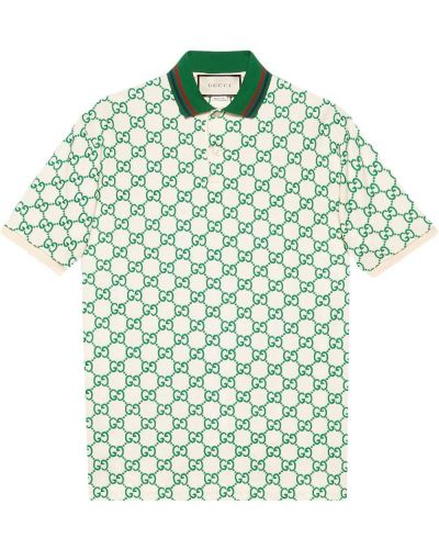 Koszula krótki rękaw bawełniana z haftem Gucci
