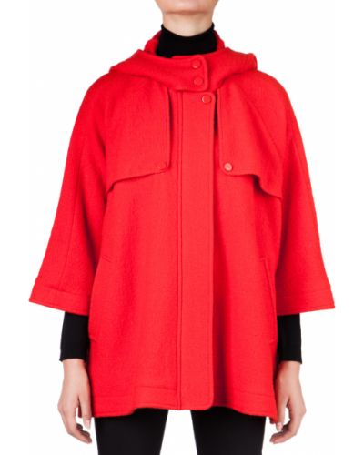 Шерстяное пальто - красное Missoni