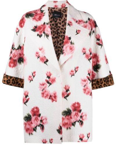 Шелковый белый пиджак с воротником Blumarine