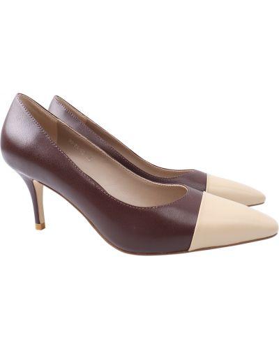 Кожаные туфли - коричневые Djovannia