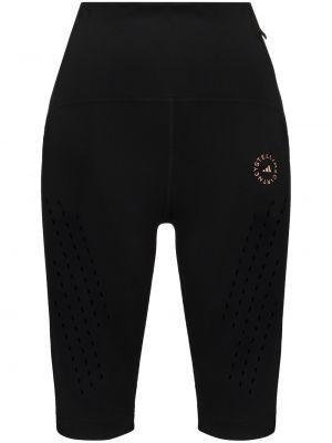 С завышенной талией модные черные шорты Adidas By Stella Mccartney