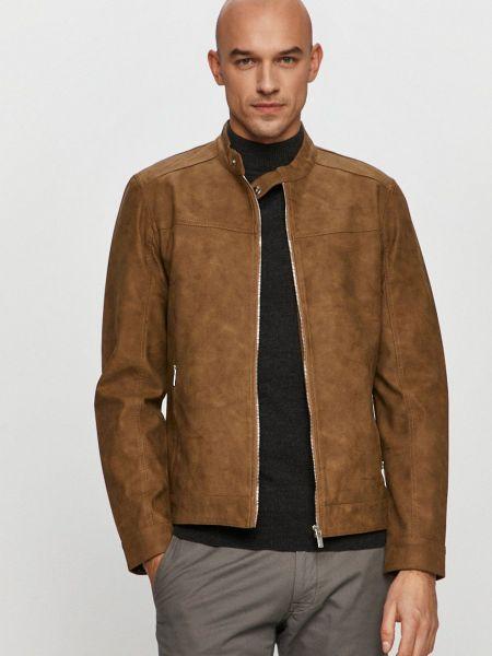 Хлопковая коричневая куртка с подкладкой Only & Sons
