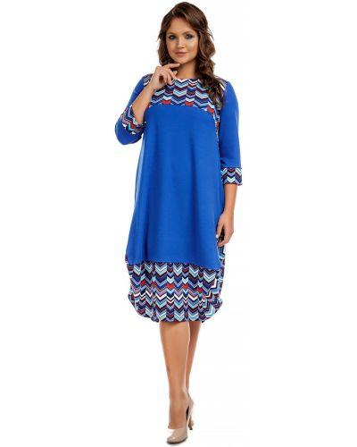 Трикотажное платье - синее Liza Fashion