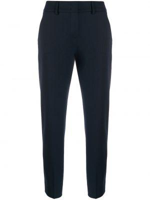 Синие шерстяные брюки с поясом с потайной застежкой Piazza Sempione