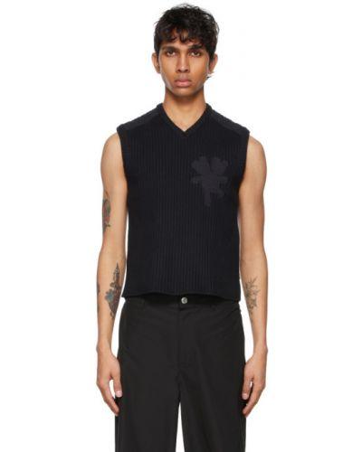 Czarny sweter bez rękawów bawełniany Marc Jacobs