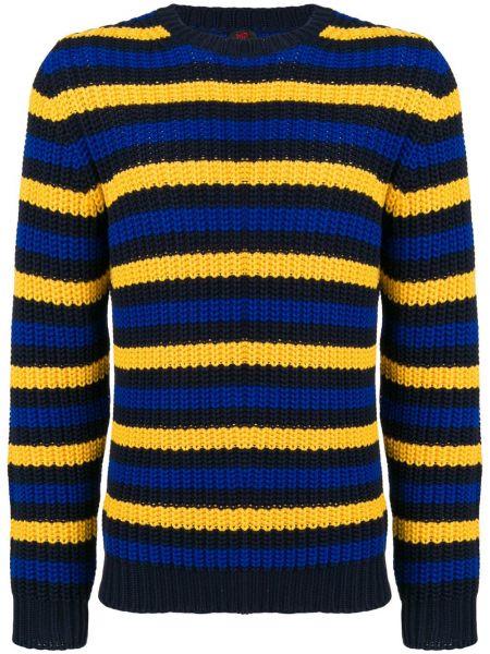 Żółty sweter w paski bawełniany Mp Massimo Piombo