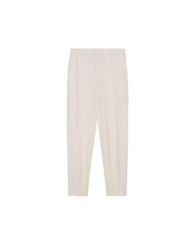 Белые шерстяные брюки Fabiana Filippi