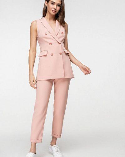 Облегающий розовый брючный костюм Itelle