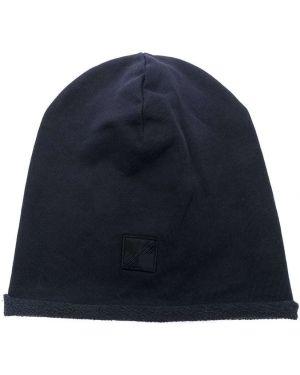 Niebieska czapka bawełniana Woolrich Kids