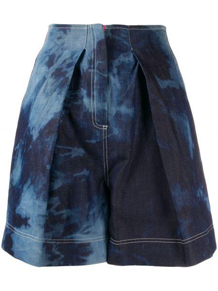 Однобортные короткие шорты с карманами Gina