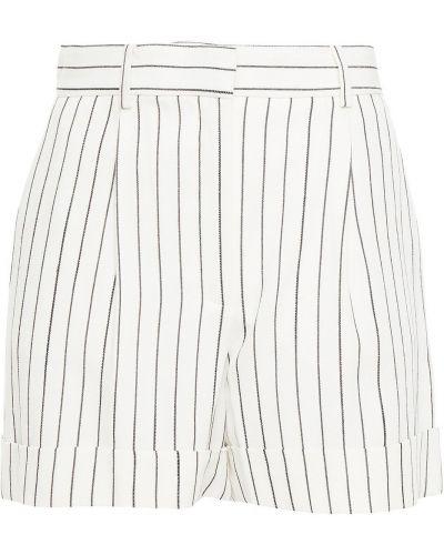 Белые шорты в полоску с карманами Bella Freud