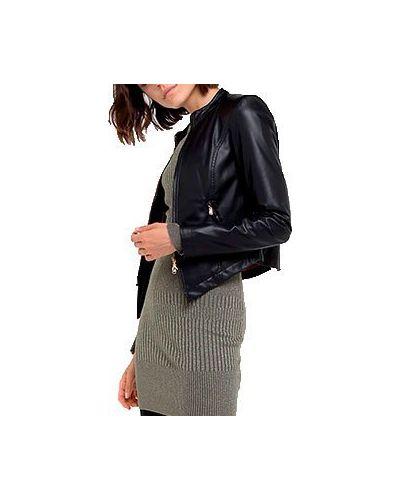 Кожаная куртка черная Patrizia Pepe