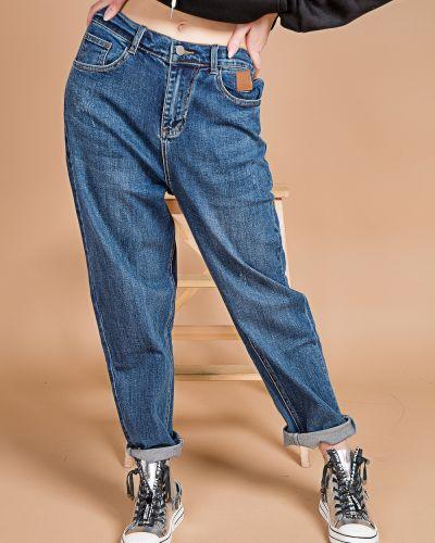 Хлопковые синие джинсы Basha