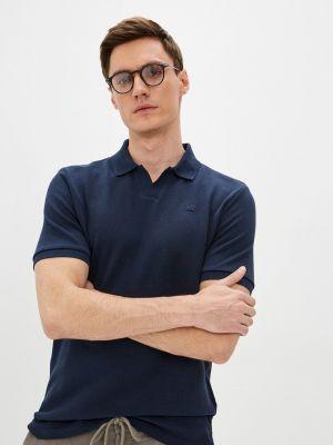Синее поло с короткими рукавами Daniel Hechter