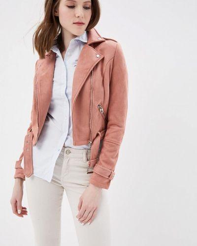 Кожаная куртка весенняя розовая Urban Bliss