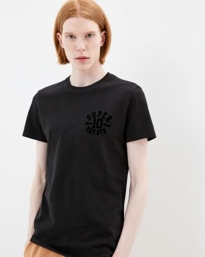 Черная турецкая футболка Superdry