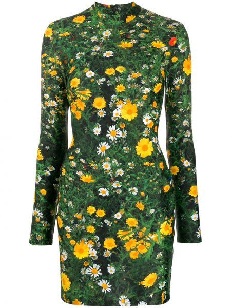 Sukienka mini dla wysokich kobiet zielona Christopher Kane