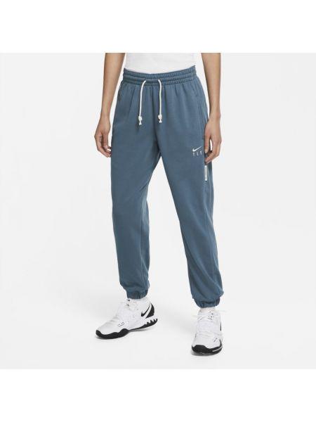 Koszykówka klasyczny niebieski klasyczne spodnie z kieszeniami Nike