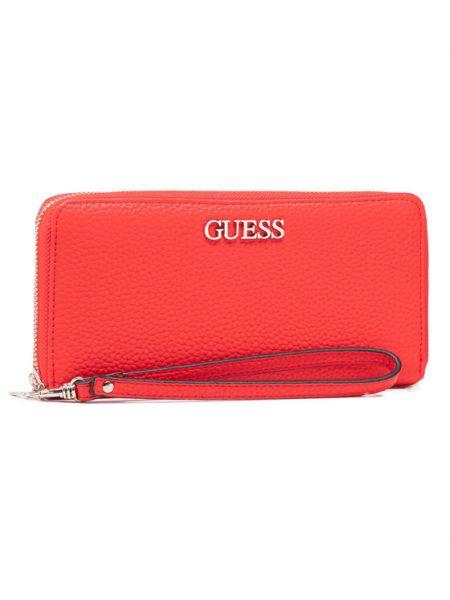 Czerwony portfel oversize Guess