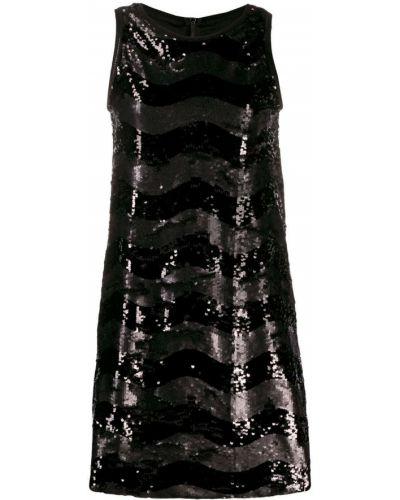 Платье с вышивкой - черное Ea7 Emporio Armani