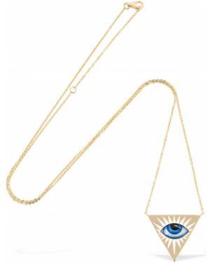 Niebieski złoty naszyjnik Lito