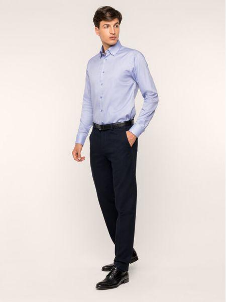 Fioletowa koszula slim Eton