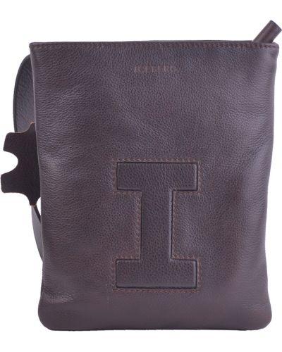 Кожаная сумка текстильная коричневый Iceberg