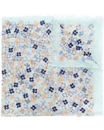 Синий шарф с цветочным принтом Hemisphere