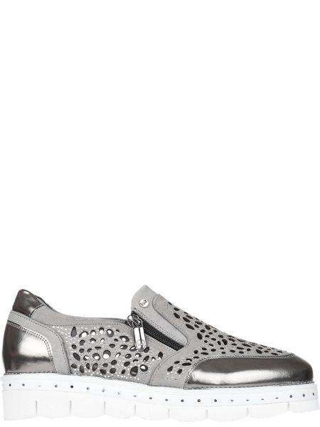Кожаные туфли - серые Lab-milano
