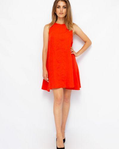 Платье трапеция - красное Dilvin