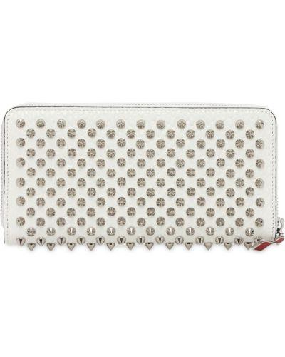 Biały portfel skórzany Christian Louboutin