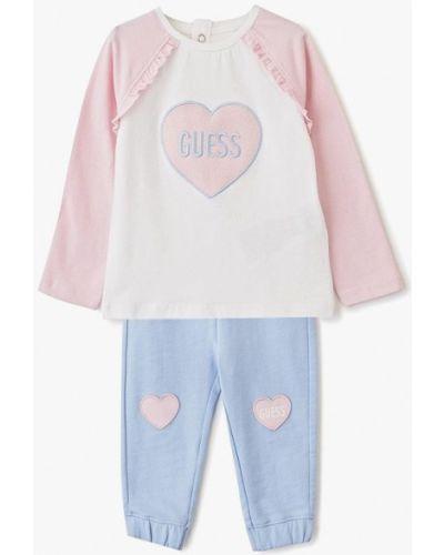 Костюмный розовый спортивный костюм Guess