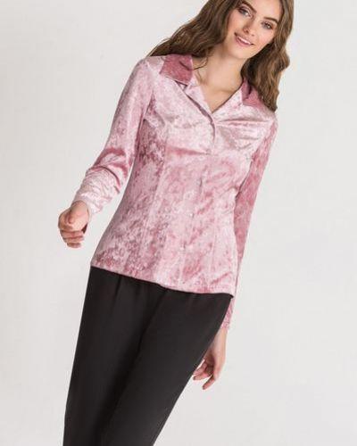 Велюровая розовая блузка на торжество Vovk