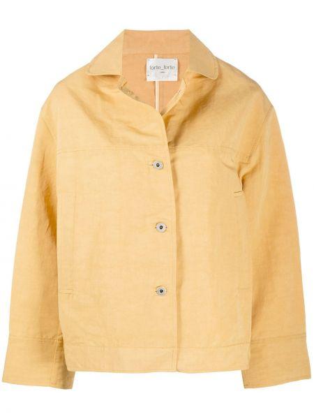 Хлопковая желтая куртка оверсайз Forte Forte