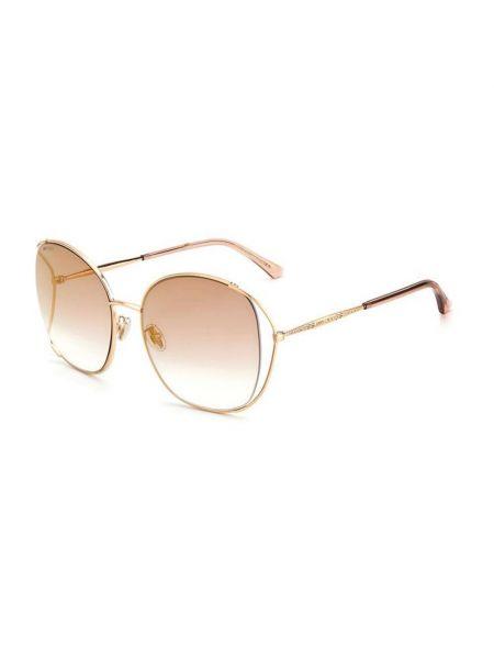 Różowe złote okulary Jimmy Choo