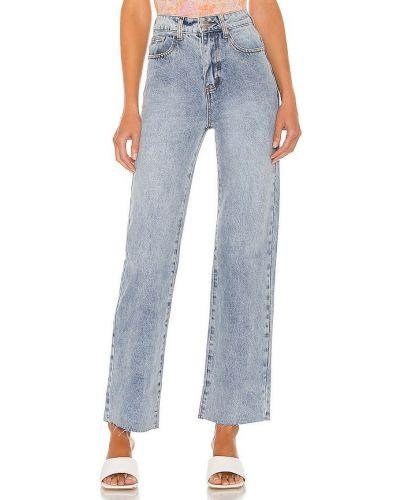 Jeansy z wysokim stanem - niebieskie Superdown