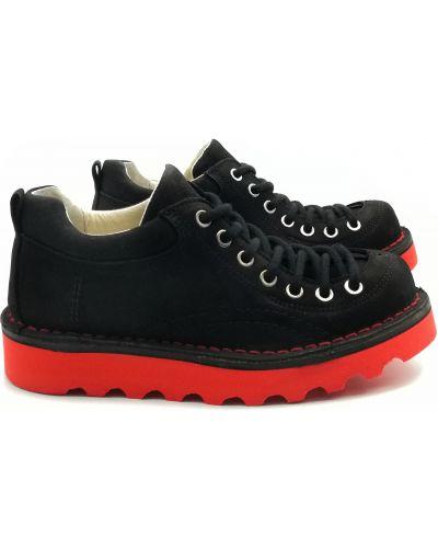 Туфли из нубука - черные Nagaba