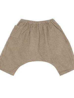 Хлопковые ватные коричневые брюки Caramel