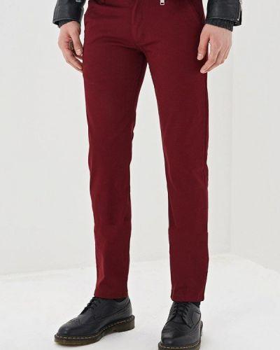 Зауженные брюки бордовый красный Young & Rich