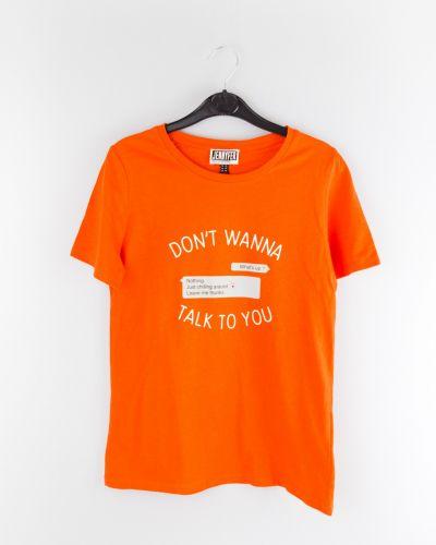 Хлопковый топ - оранжевый Jennyfer