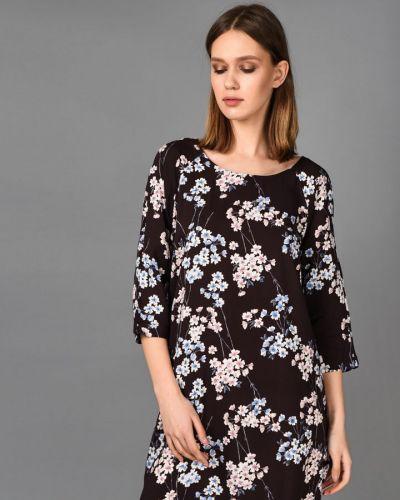 Платье в цветочный принт - коричневое Broadway